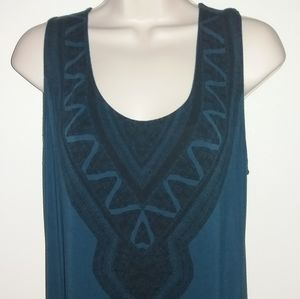 Lisa Rinna Printed Panel Maxi Dress M